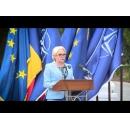Prime Minister Viorica Dăncilă attends the military ceremony devoted to the 15th anniversary of Romania's NATO accession and the 70th anniversary of the establishment of the North Atlantic Alliance